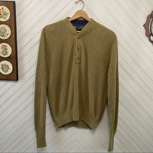 C.C. Filson Linen Cotton Fisherman Henley Sweater